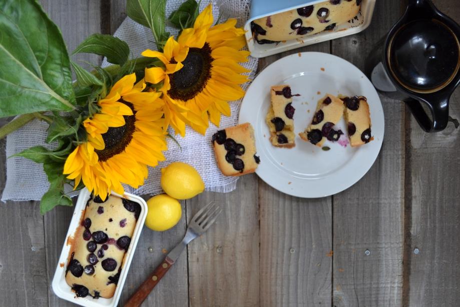 Blueberry and Lemon Pound Cake